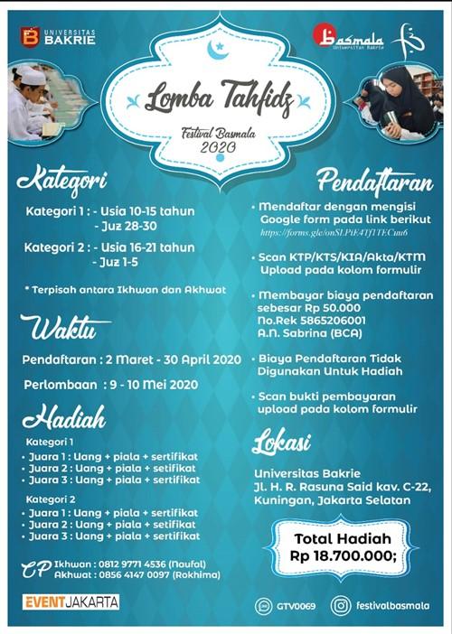 Festival Basmala 2020 : Lomba Tahfidz
